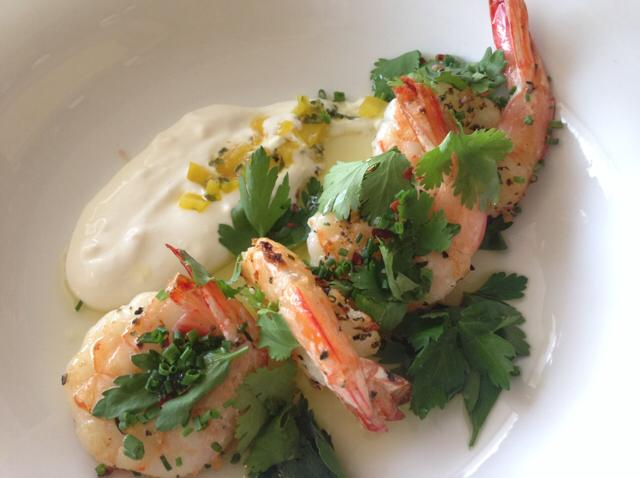 Seared Shrimp with Preserved Lemon