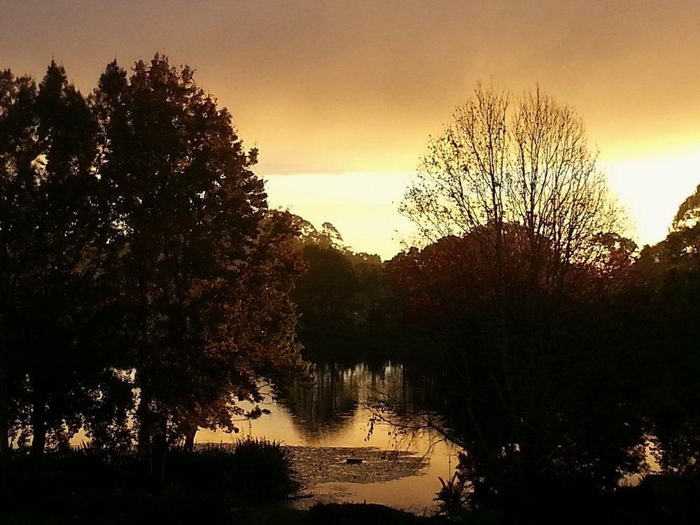 SUNRISE OVER LAKE, WITTA AUSTRALIA