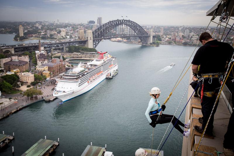 Caroline Pemberton - Abseiling Sydney Harbour