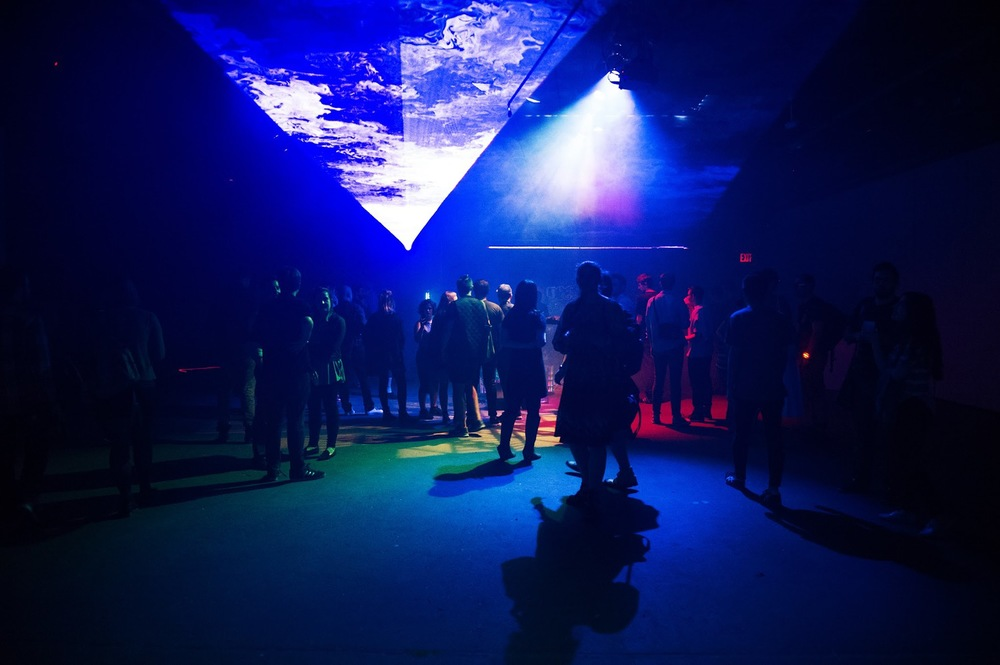 HOR|ZON: Dissolving the ceiling as Eyebeam departs Chelsea. (photo by Christine Butler)