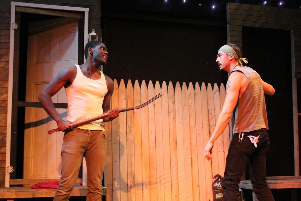 Sheldon Brown as Adams and Michael Knowlton as Blake; Photo by Jeff Mosser