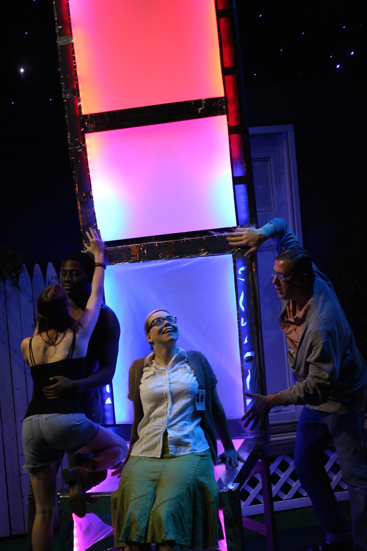 Louise Hamill as Talia, Sheldon Brown as Adams, Gillian Mackay-Smith as Melanie, and Daniel Boudreau as Griffin; Photo by Jessie Baxter