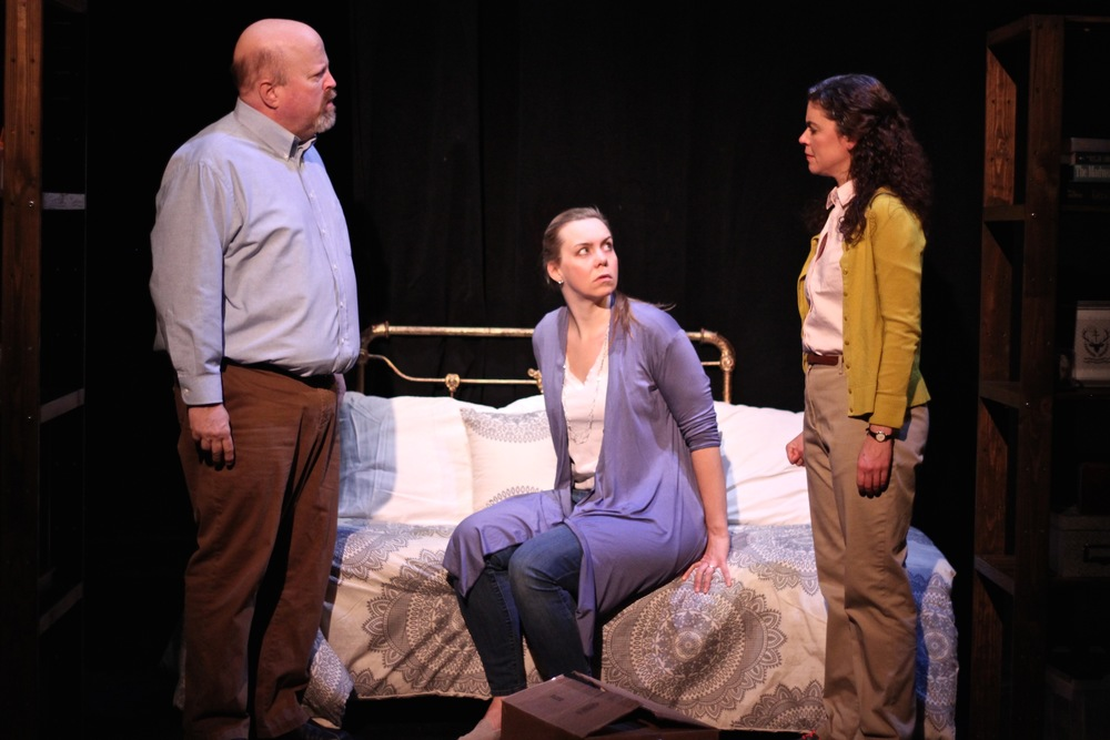 Dale J. Young as Charlie, Gillian Mackay-Smith as Carson, and Margarita Martinez as Adelina