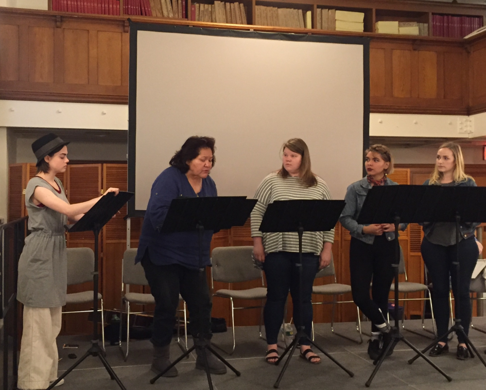 The First Look staged reading of La Llorona by Cecelia Raker, 2016