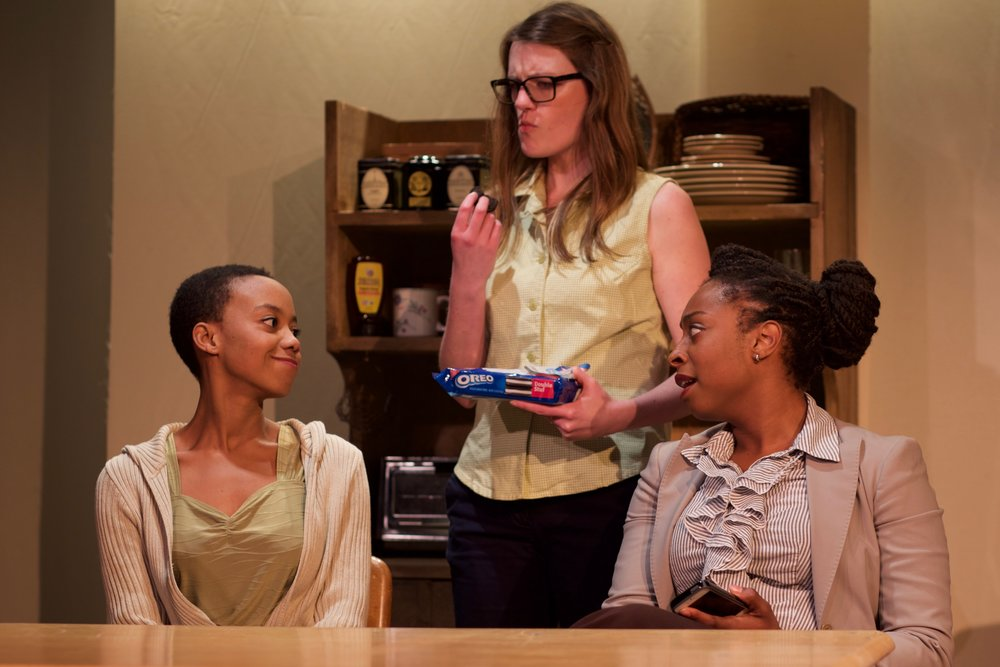 Hayley Spivey as Lizzie, Louise Hamill as Olive, and Tonasia Jones as Martha
