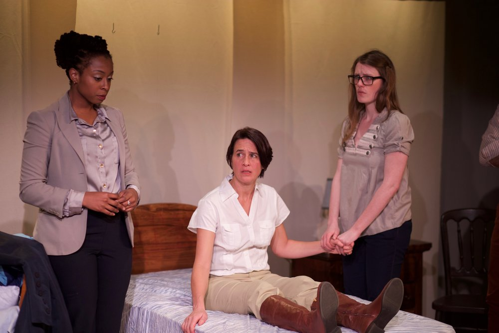 Tonasia Jones as Martha, Alex Alexander as Diana, and Louise Hamill as Olive