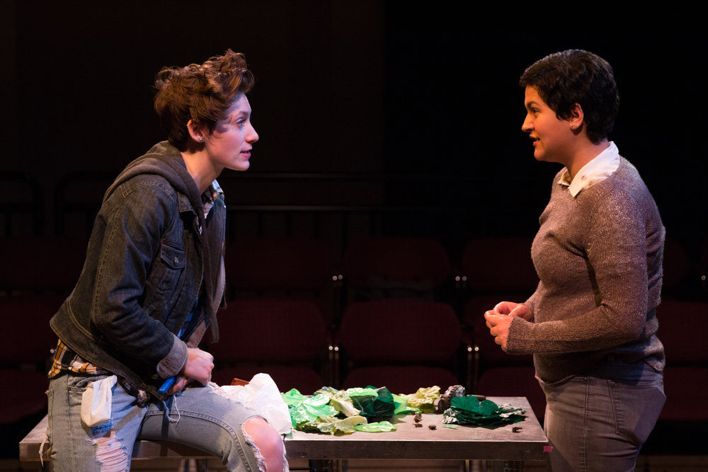 Emily Elmore as Sasha and Alex Casillas as Lucy