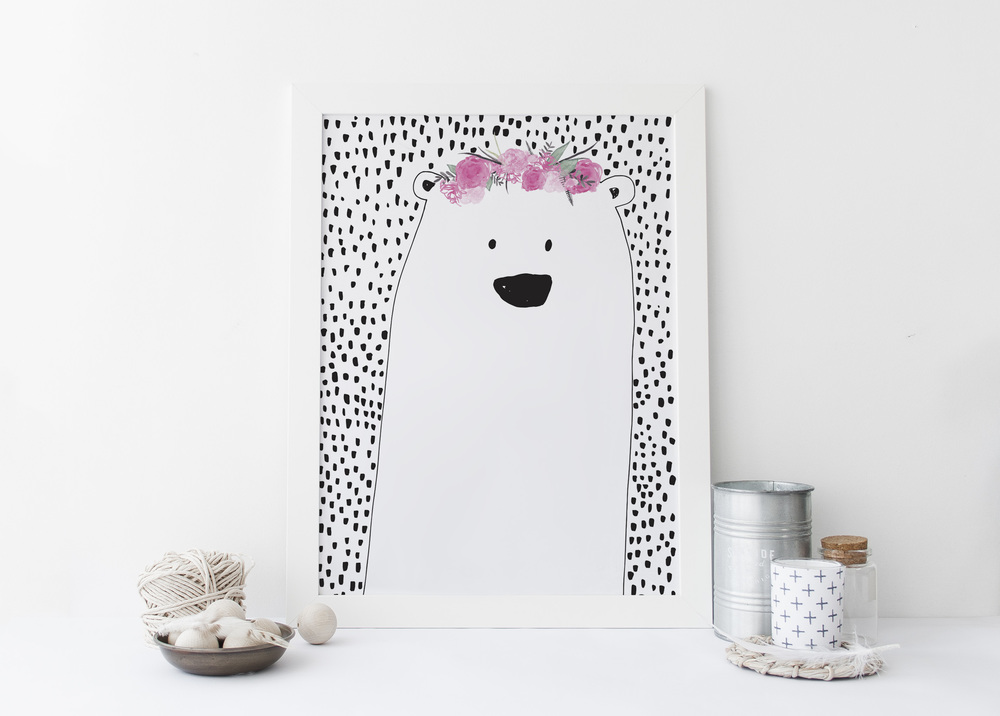 miss bear print Lucky 44