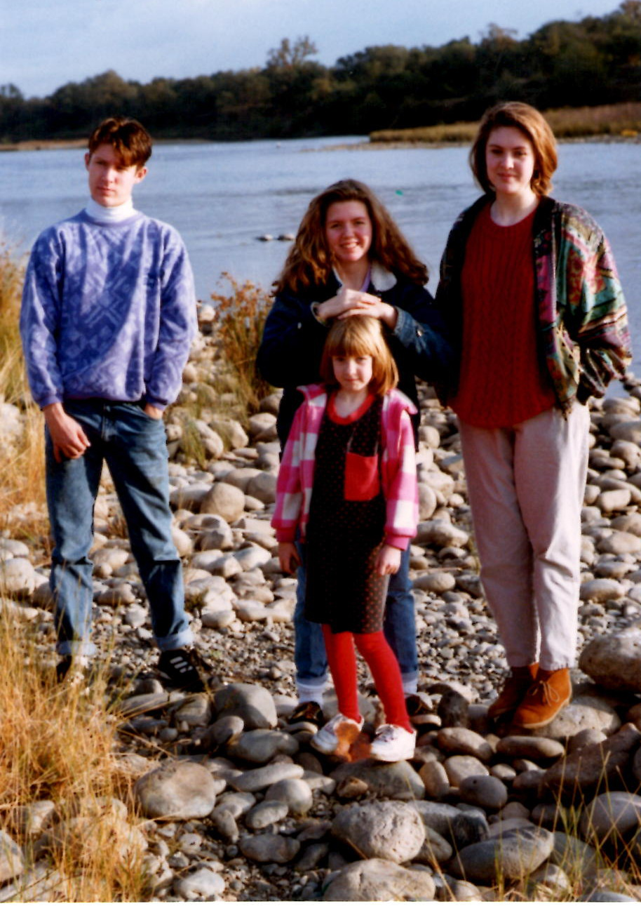 That's me, at thirteen, in the middle.