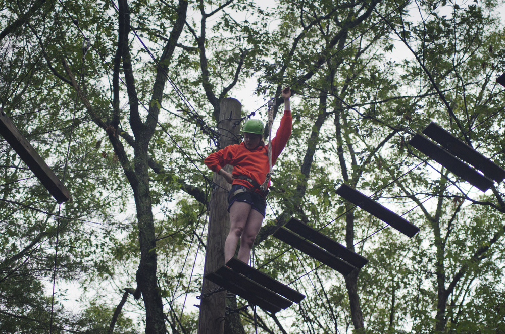 Challenge Course Cooperative games and high rope adventures await