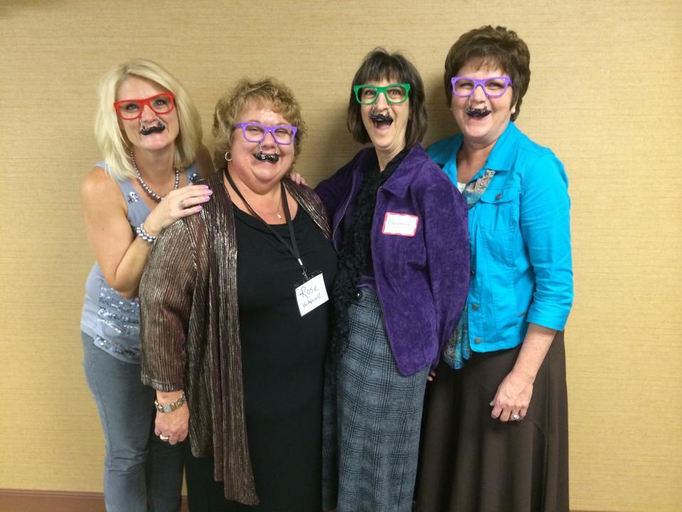 Some ladies having fun at Refresh & Renew 2014.