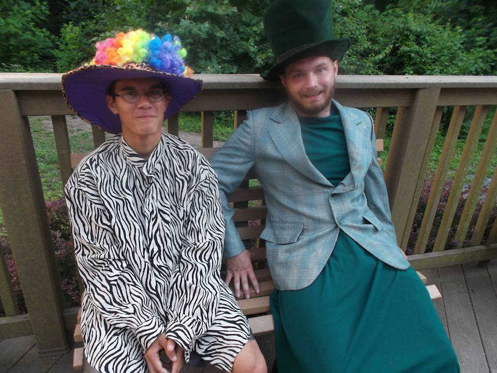 James & one of Hebron's SITs, Tony, dressed up for a themed meal