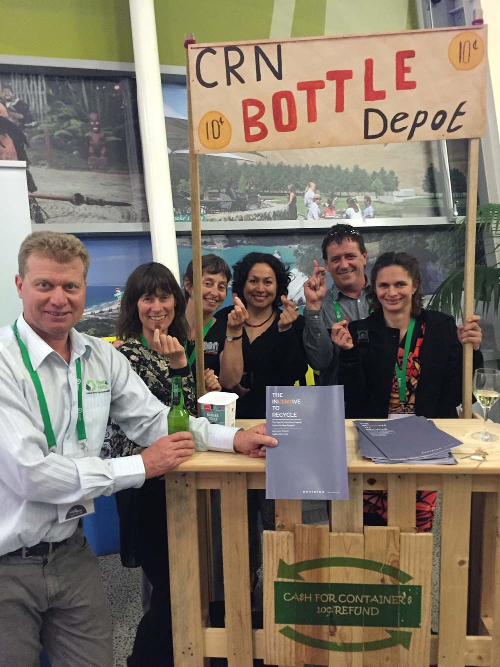 The CRN Bottle Depot in action again, this time at the 2015 Waste MINZ Conference