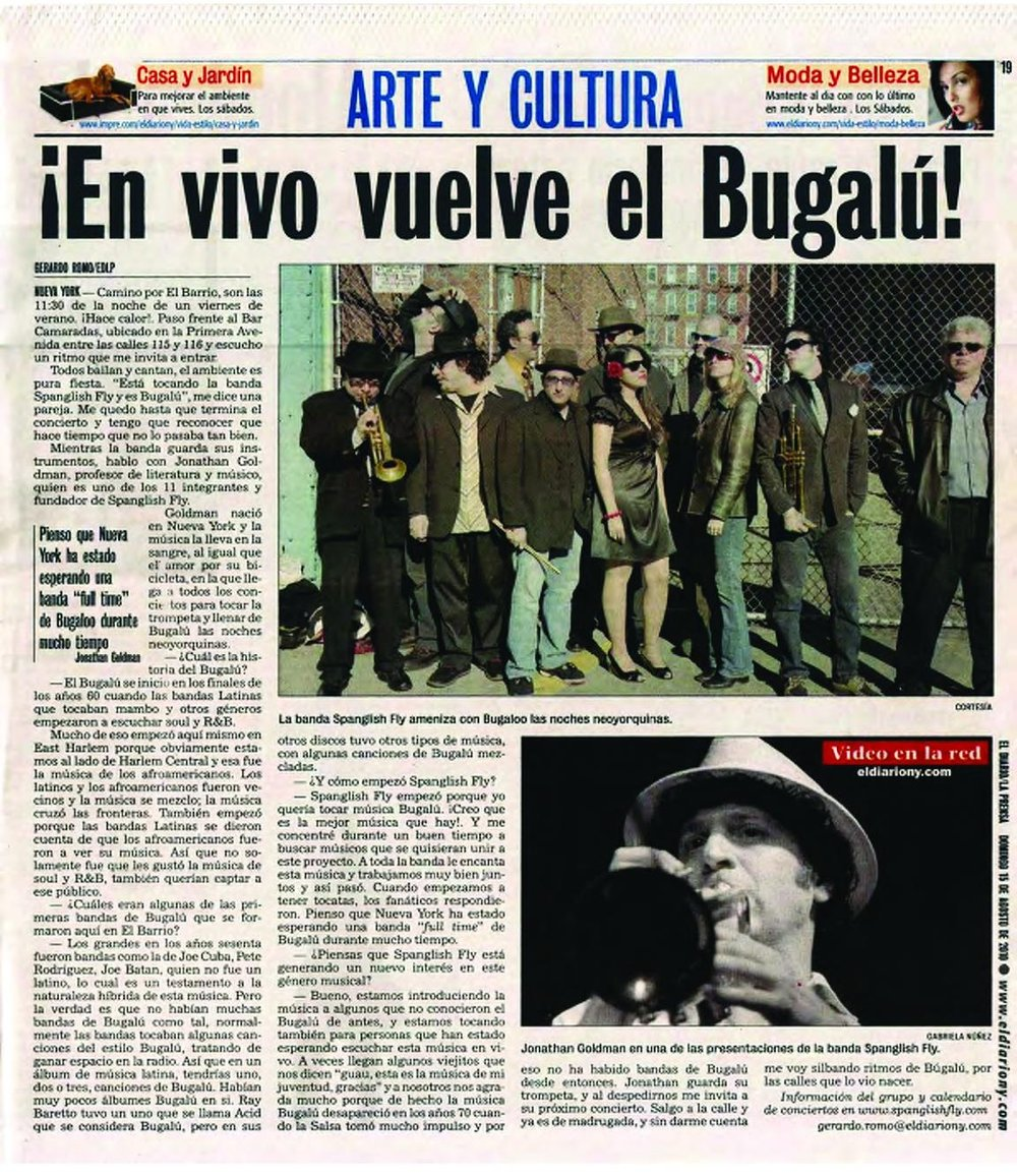 2010  El Diario  feature by Gerardo Romo