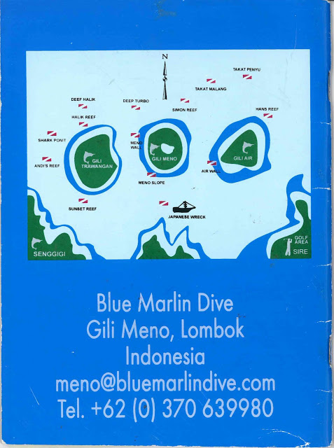 Map of the Gili Islands, off the coast of Lombok, in Indonesia.