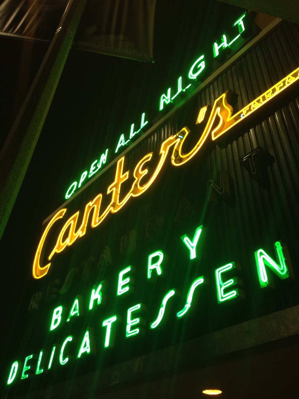 Canter's in Fairfax, Los Angeles, near West Hollywood.