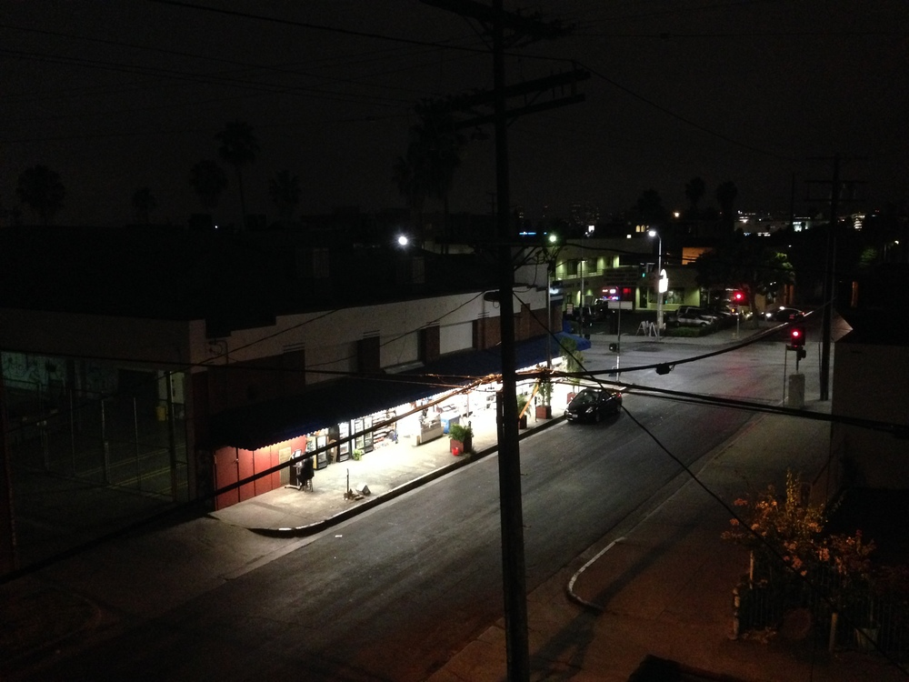 Fairfax at night: Orthodox Jew surfing the Internet.