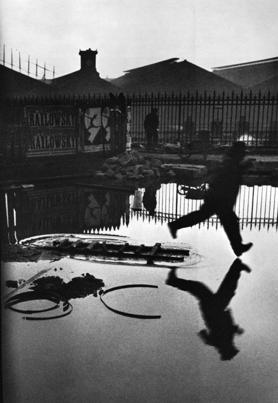 Henri Cartier-Bresson: Behind the Gare Saint-Lazare (1932).