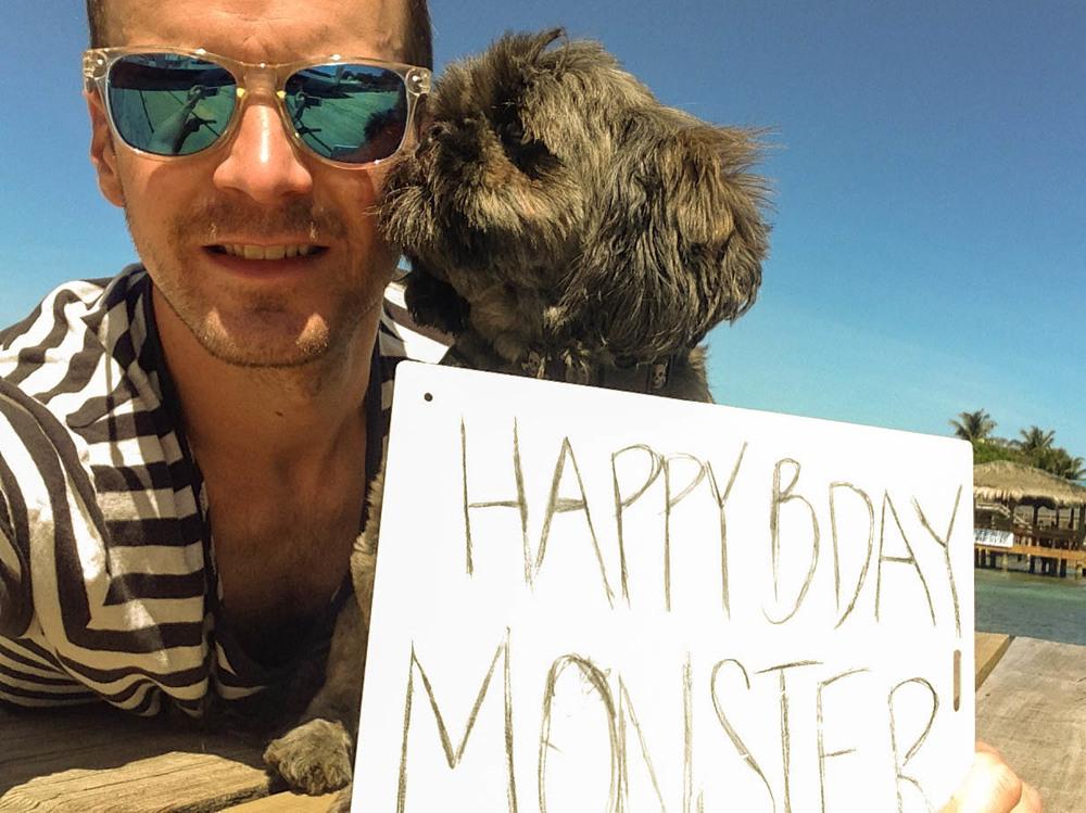 Celebrating Monster Day on the dock at West End Divers; Roatán,Honduras.