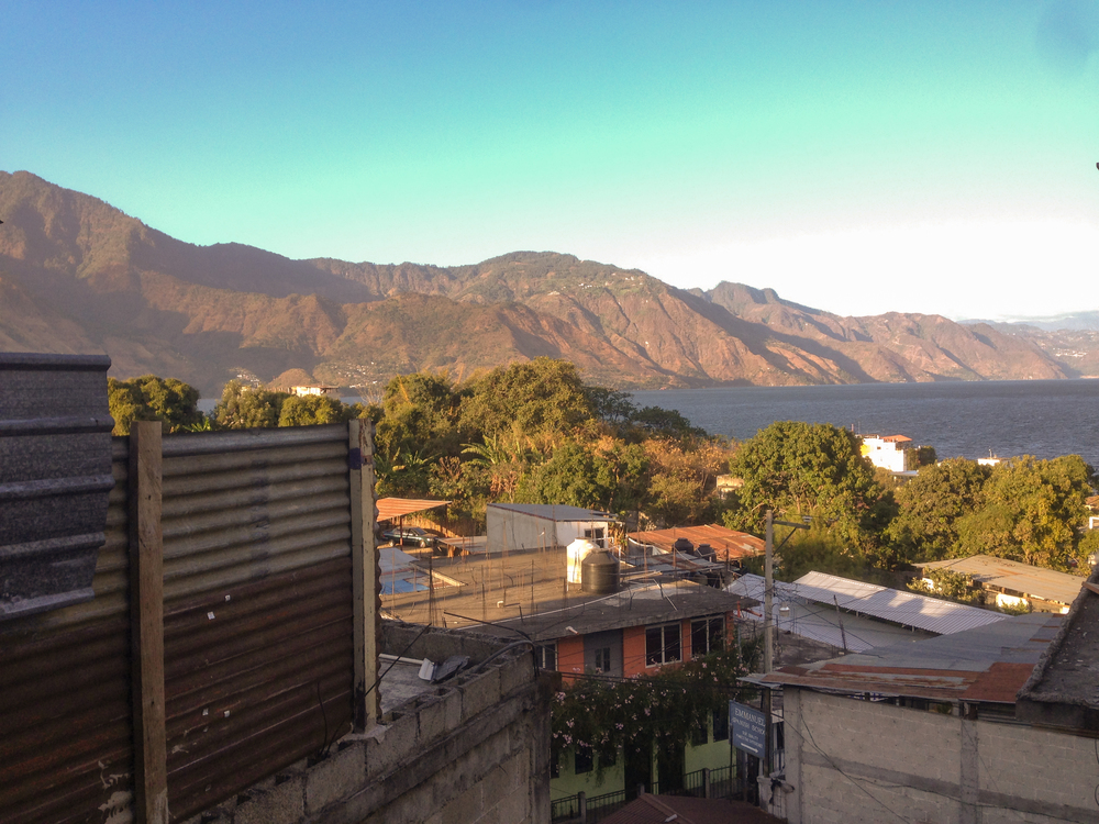 View from our hotel room (25Q / $3.28) in San Pedro La Laguna.