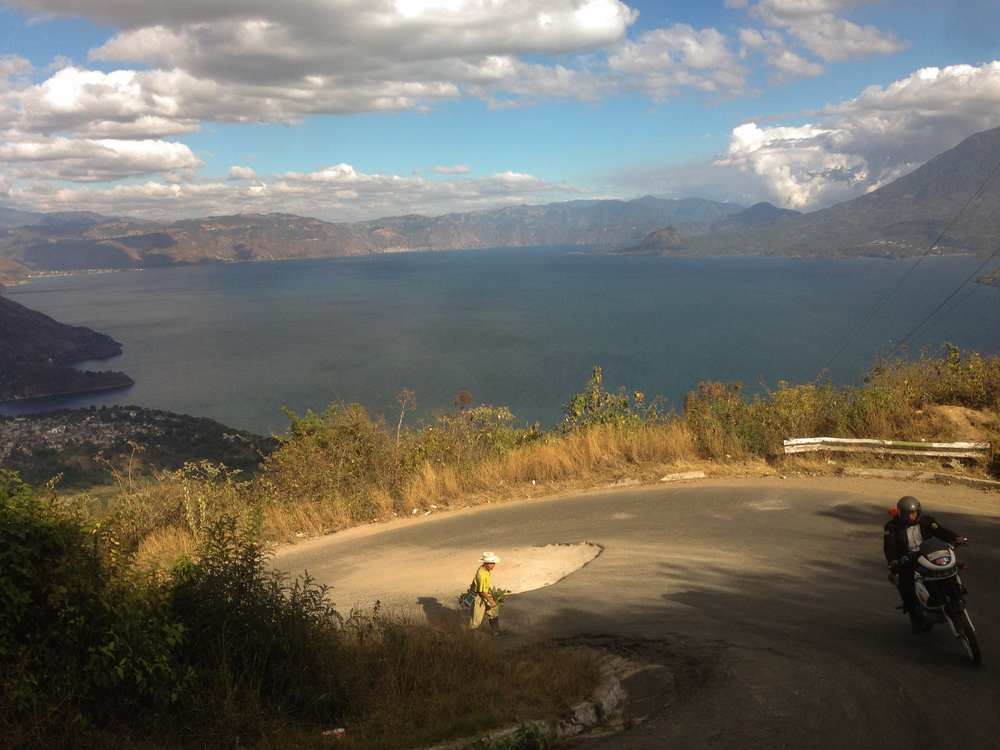 The road down into town; Lake Atitlán, Guatemala.