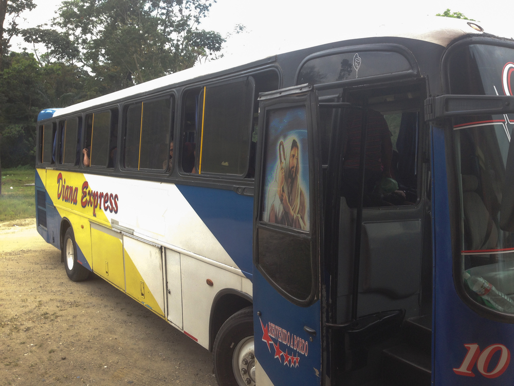 I took Diana Express from San Pedro Sula to La Ceiba. I'veheard speculationthat Diana Express drivers work alongside the gangs on highway robberies, signaling them, etc.
