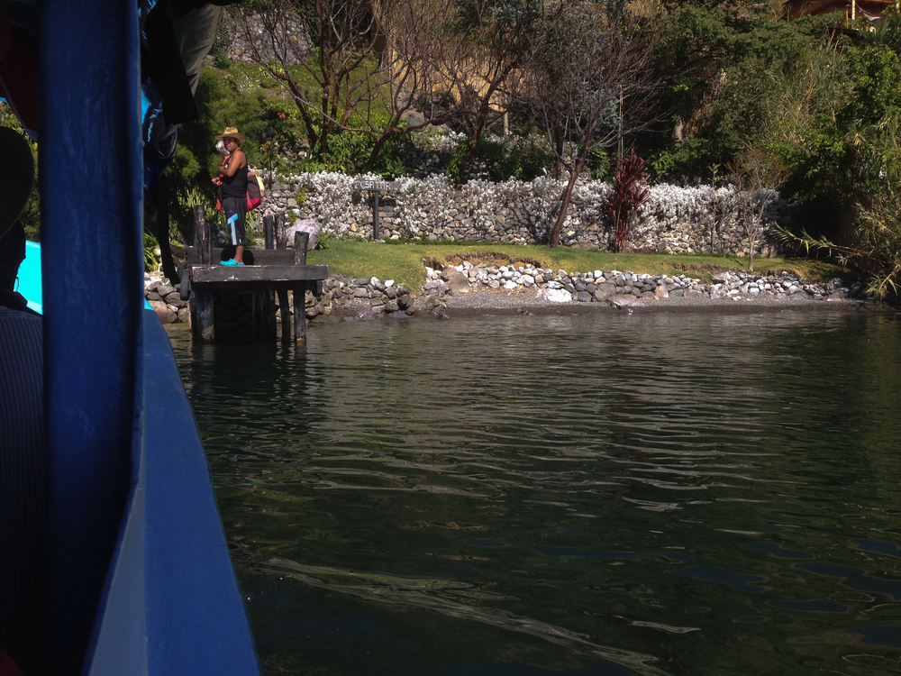 One of the water taxi stops en route to Panajachel from San Pedro La Laguna.