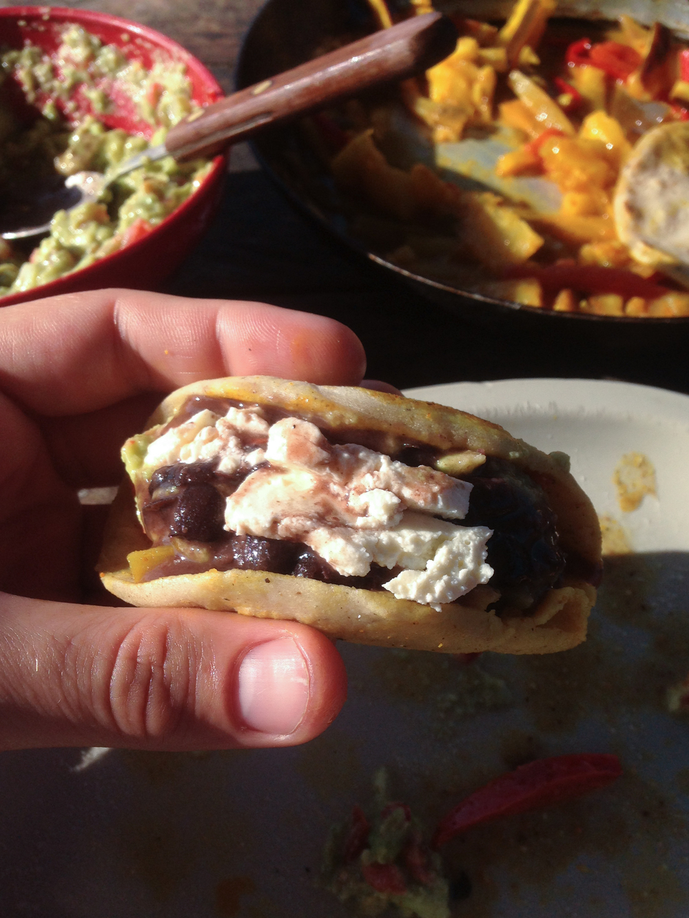 Tortillas in Guatemala and Honduras are meant to beedible utensils, not tacos, but whatever.