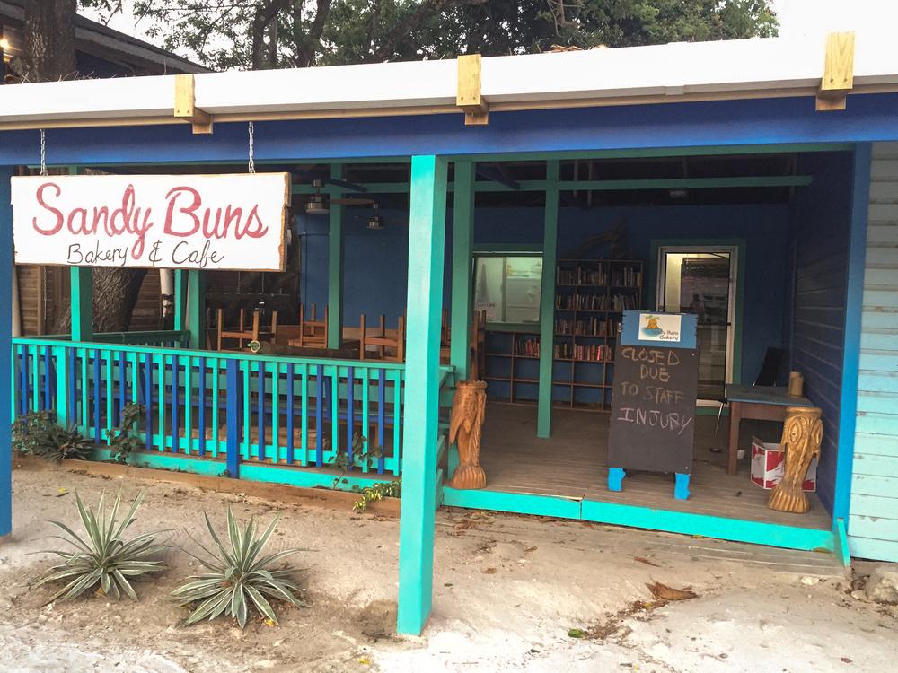 Sandy Buns, West End; Roatán, Honduras.
