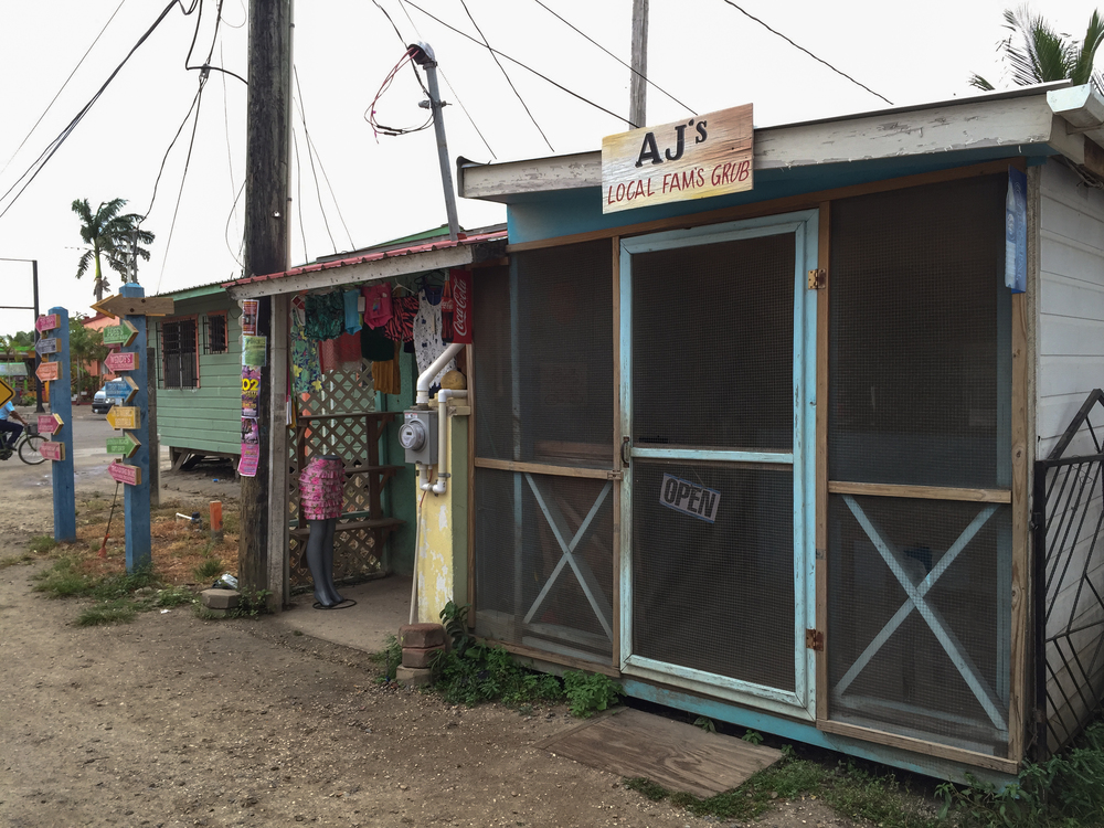 Local food inPlacencia, Belize.