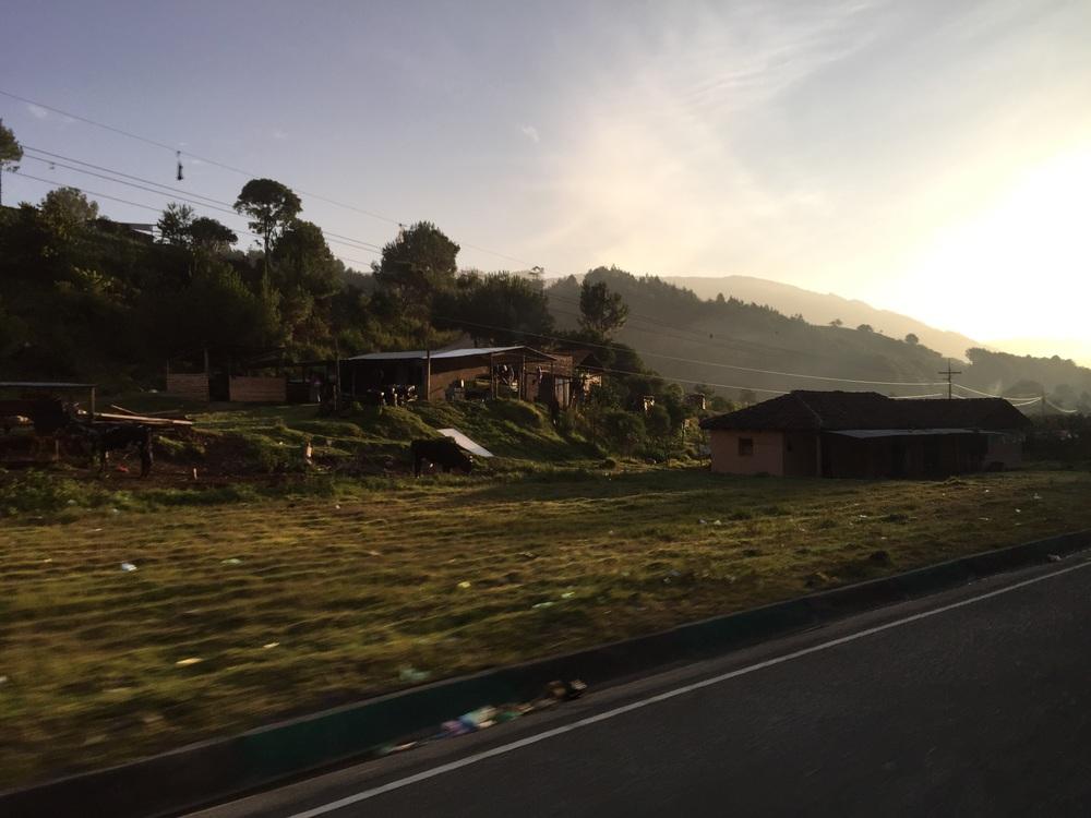 6:21 passing through San Andrés, Sajcabajá.