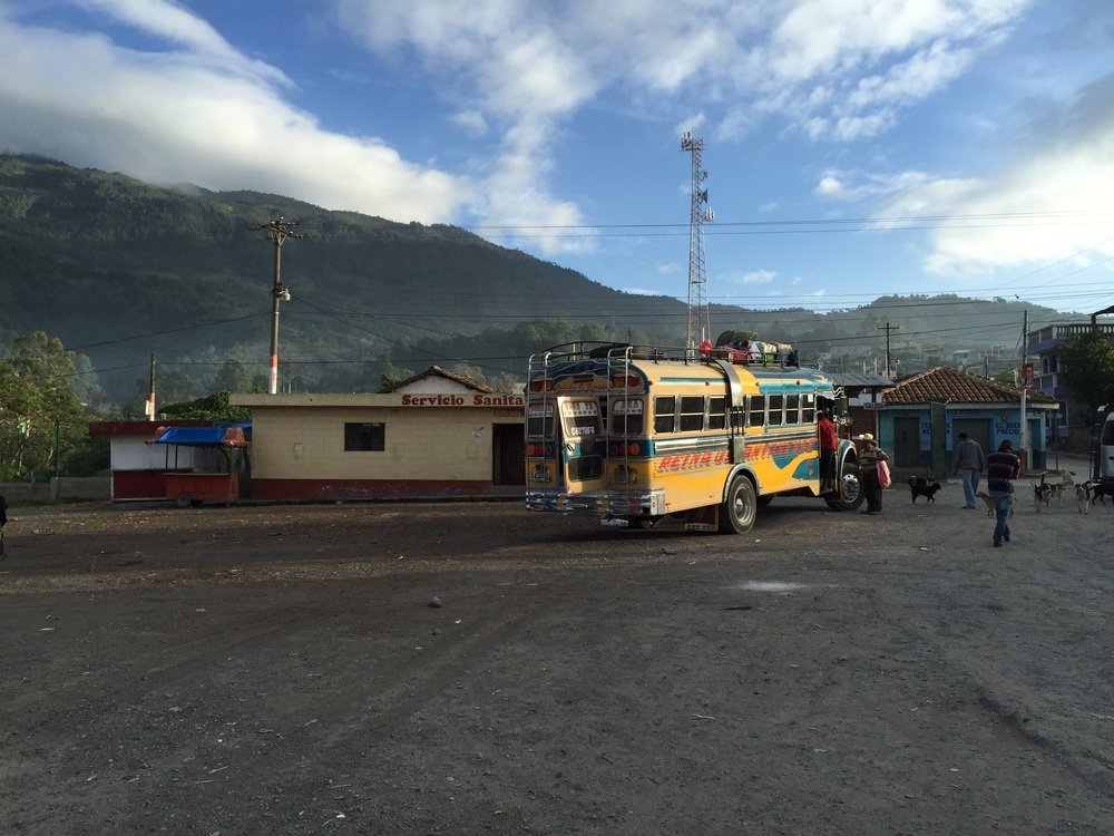 6:39 in Uspantán. Typical rest stop in the Guatemalan highlands.