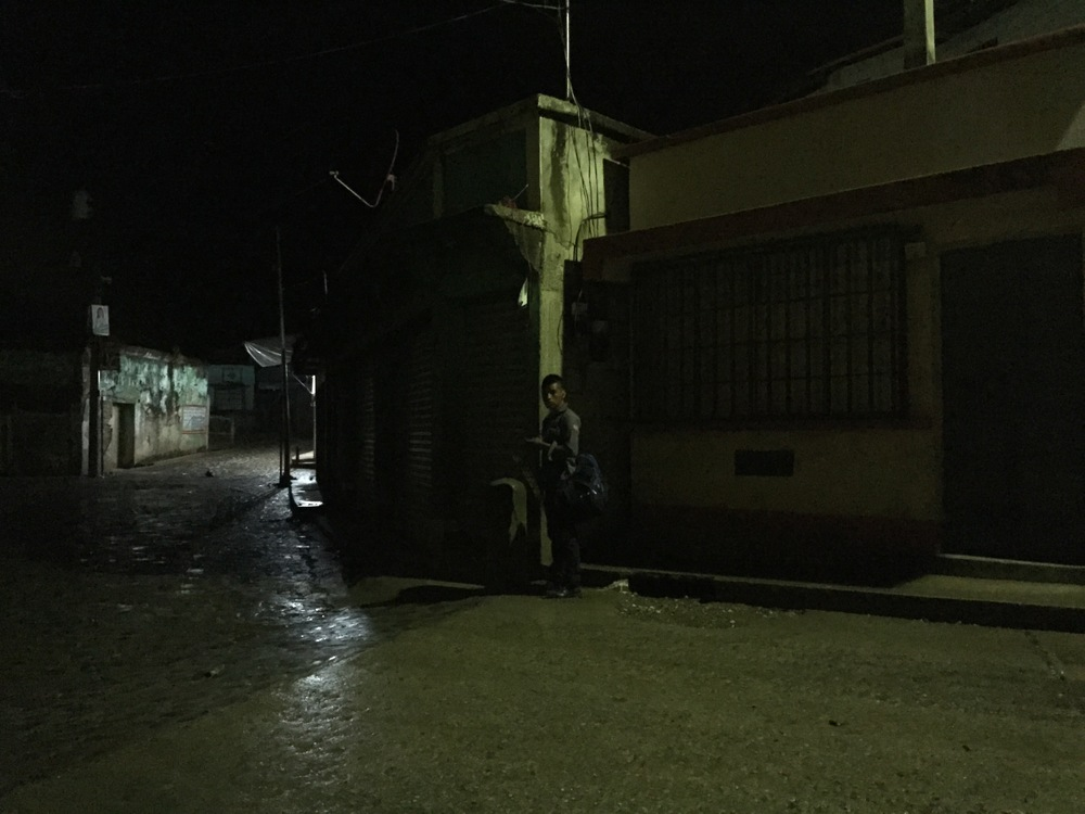 2:59am in Santa María Cahabón, waiting for the bus to El Estor and then Rio Dulce.