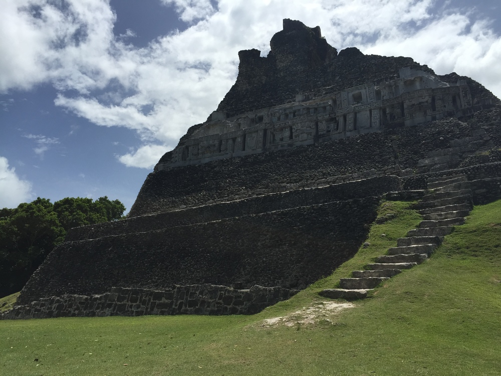 Xunantunich is famous for its friezes. El Castillo.