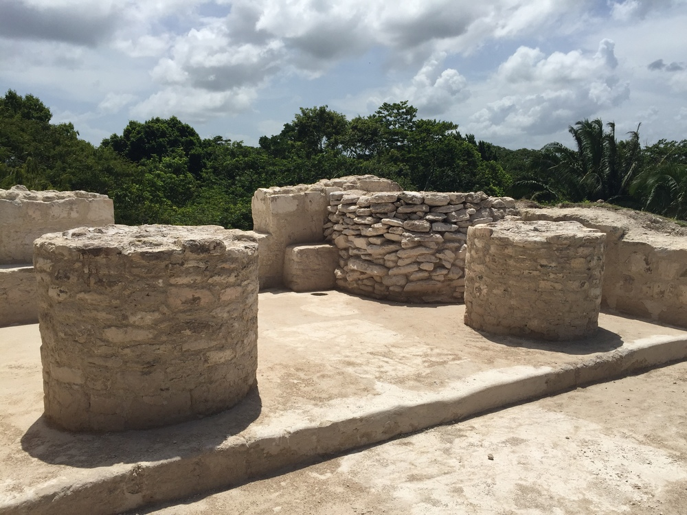 The only two cylinders ever found at Mayan ruins in Belize.