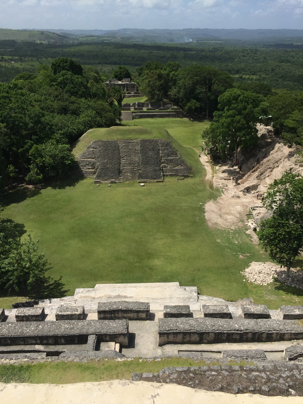 The view from atop El Castillo at Xunantunich.