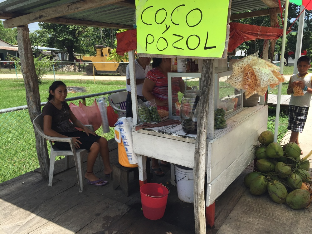 I was able to find coconut water without added sugar, which unless you're drinking straight from the coconut is basically impossible in Honduras. Everything has so much sugar added. Tenosique, in southeastern Tabasco, Mexico.