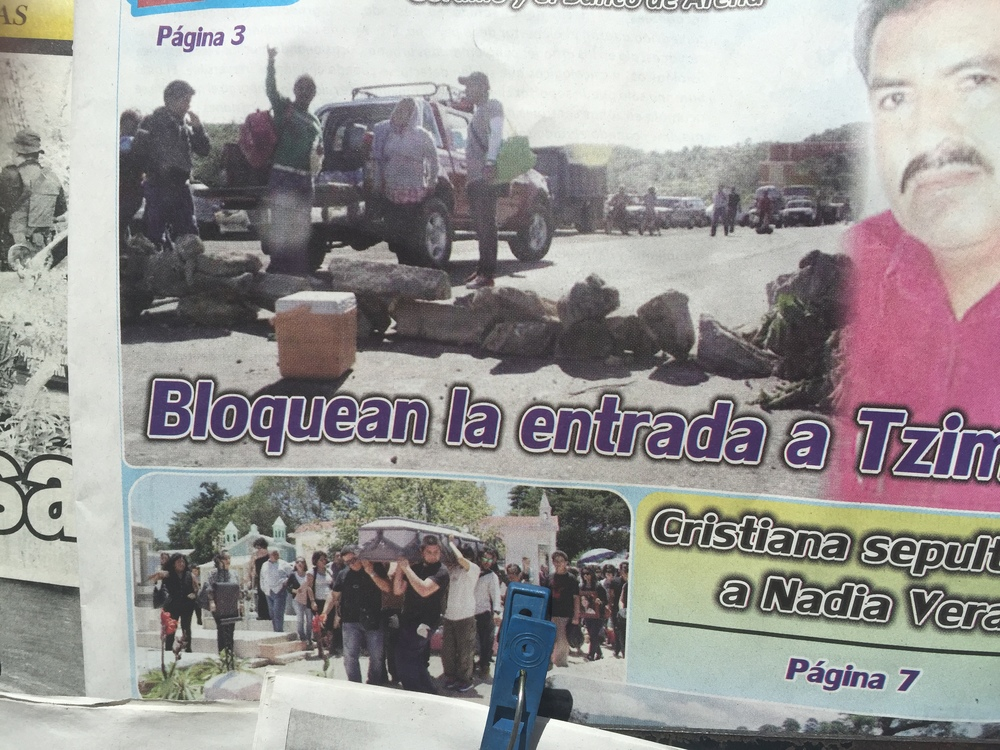 I'd get out of the bus. Walk for a mile or so. Practice my Spanish. Ask how many more roadblocks ahead. Walk some more. Eventually made my way to San Cristóbal, where in the morning I saw this headline in one of the papers. Apparently the blockades on that stretch of highway have been ongoing for the past month or so.