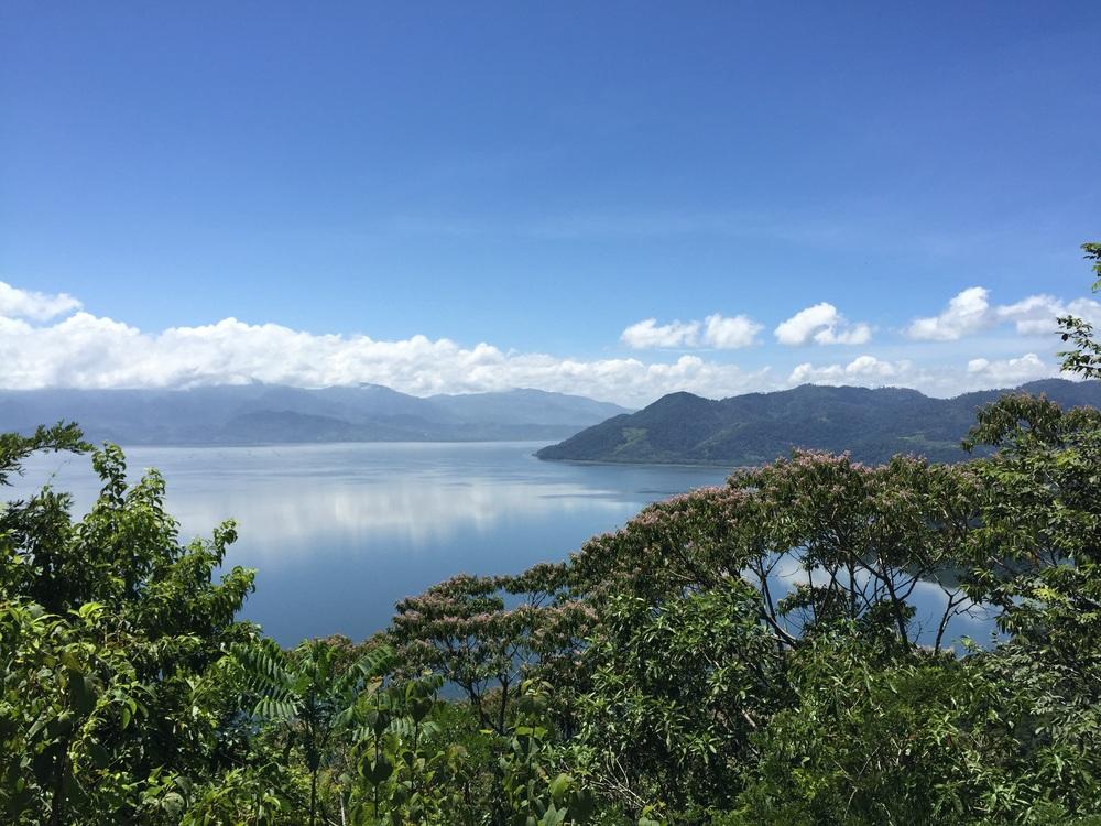Lake Yojoa, Honduras, from the peaks of Las Nalgas.
