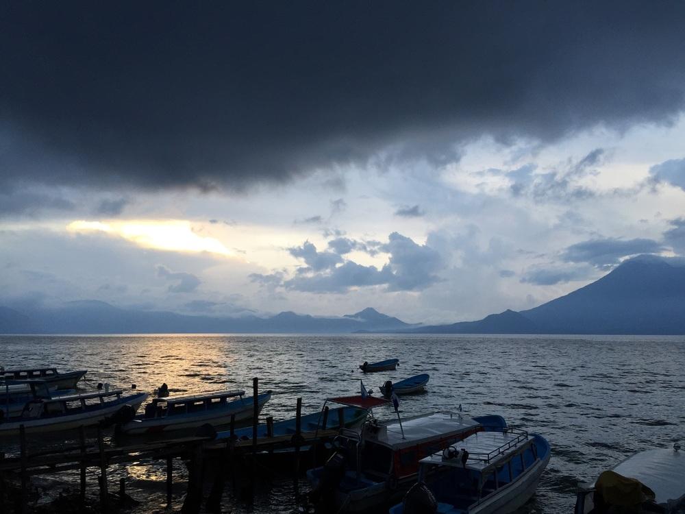 Lake Atitlán, as seen from Santa Cruz.