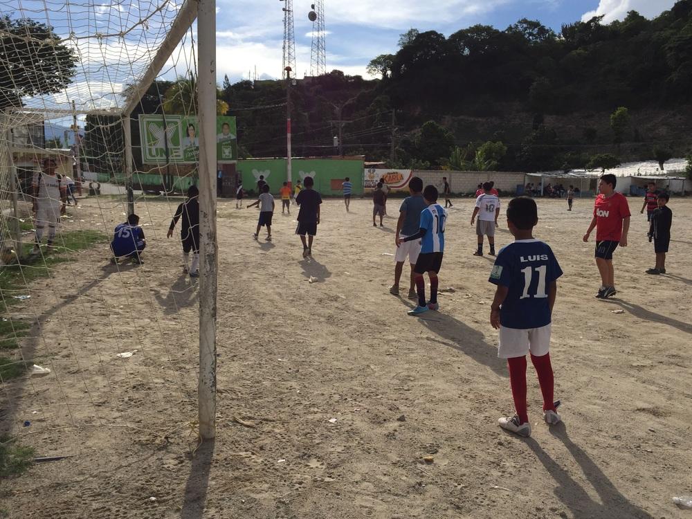 Soccer in Sacapulas.