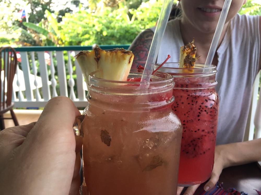 Drinks at Guava Limb Café.