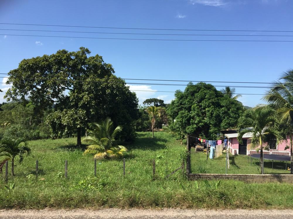 Hummingbird Highway, which runs between Belmopan and Dangriga, Belize.