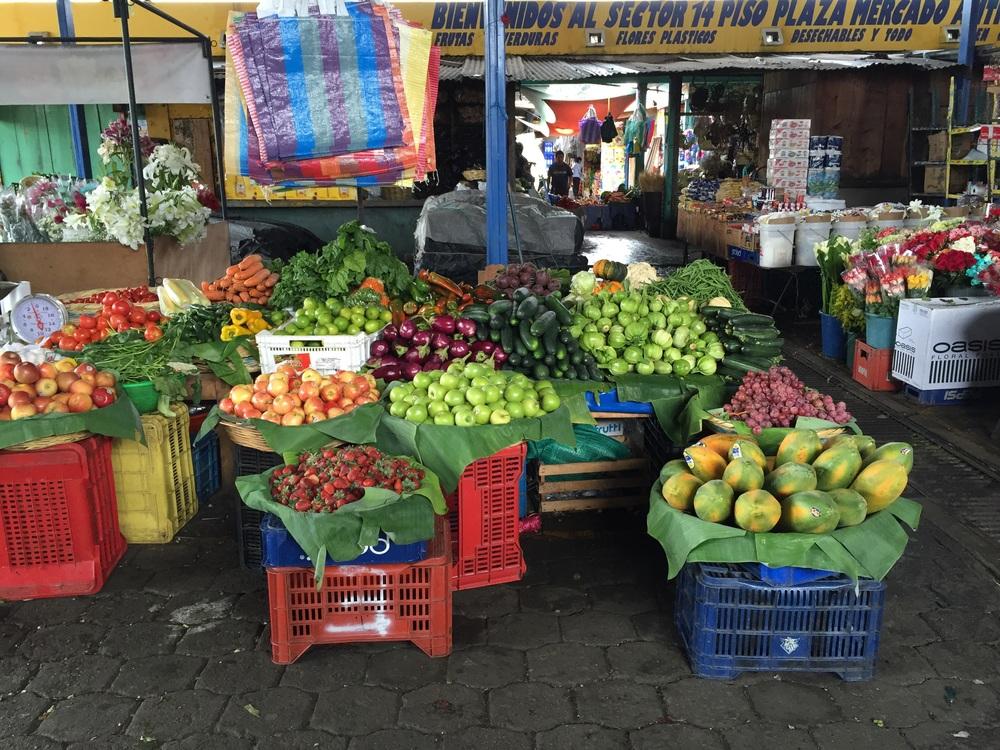 Market in Antigua.