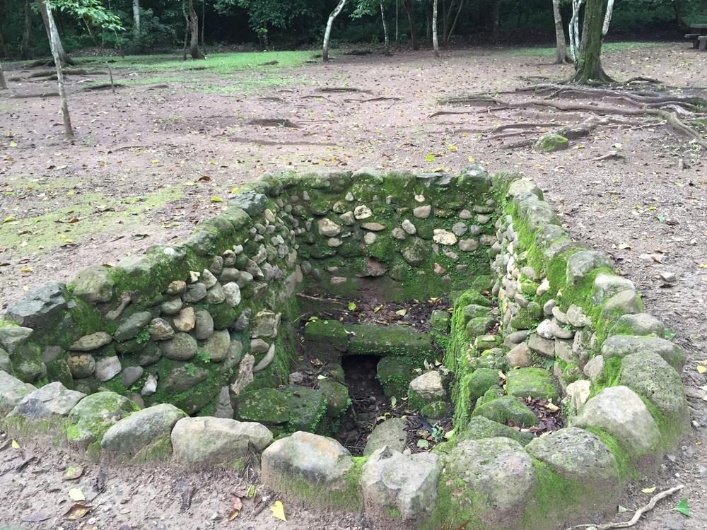 Mayan bath near the ruins.