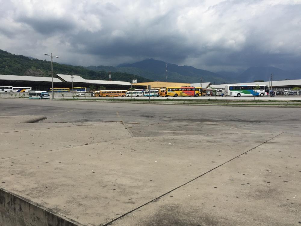 San Pedro Sula bus station.