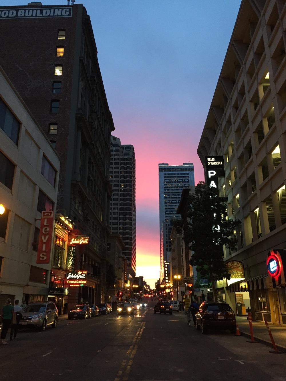 Twilight in San Francisco, California; no filters, just light.