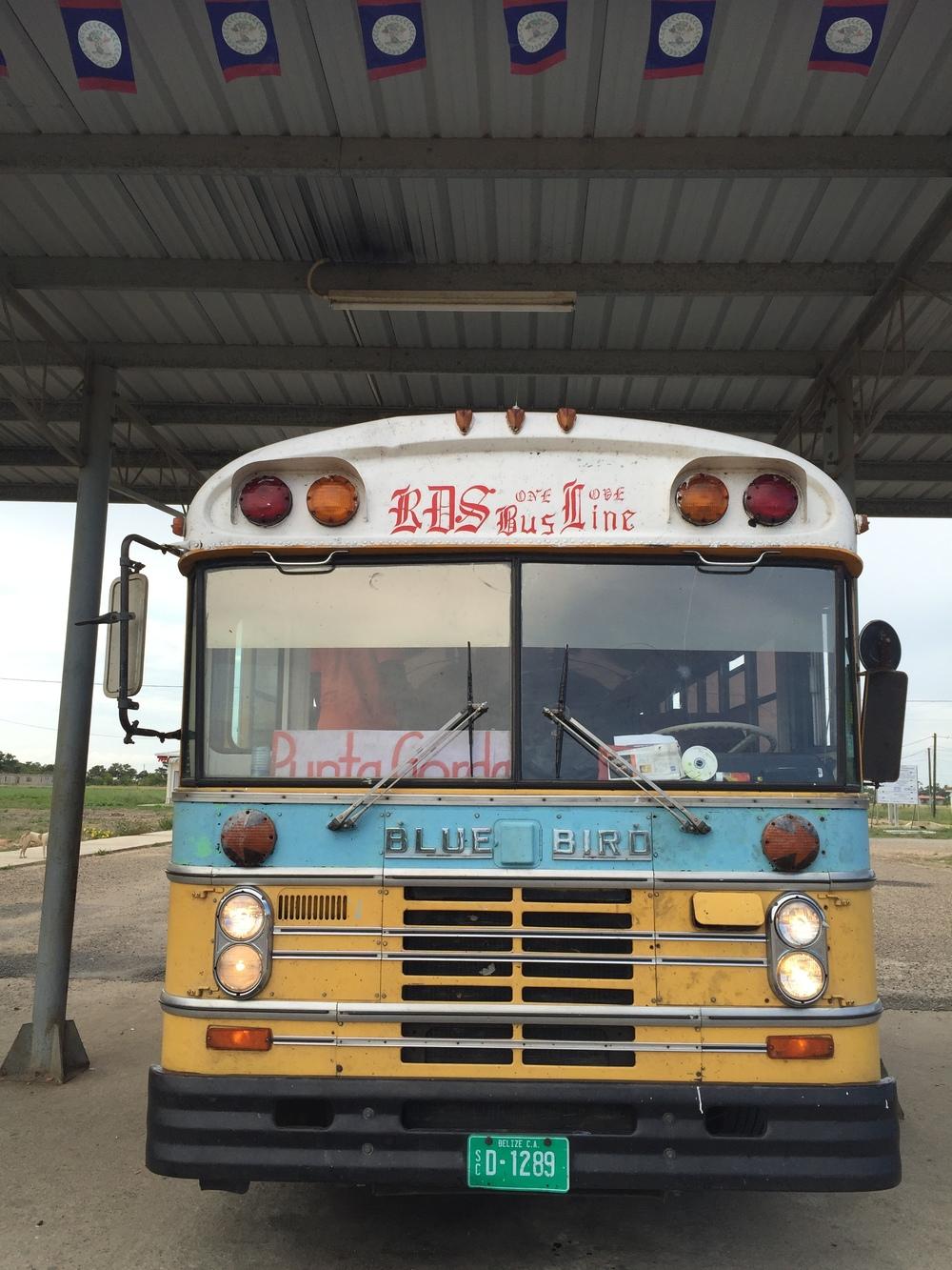 Bus to Punta Gorda from Mango Creek a.k.a. Independence, Belize.