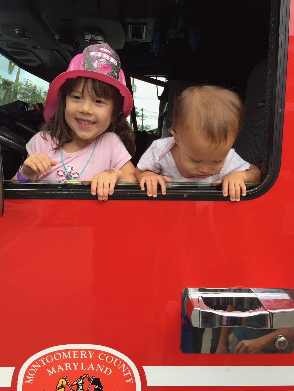 Firetruck in Takoma Park.