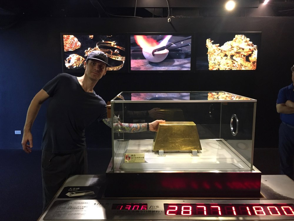 One of the world's largest gold bars, worth more than $9M USD.